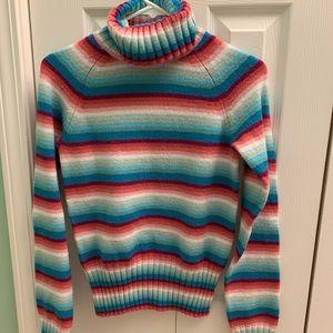 Sweaters - Rainbow Vintage Turtleneck Top